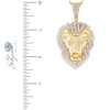 10k Yellow Gold 4.70ct Lion's Head Pendant Measurements