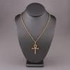 14k Yellow Gold 2.67ct Diamond Ankh Pendant On