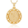 14k Yellow Gold 3.79ct Diamond Circle Pendant