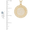 14k Yellow Gold 6.89ct Diamond Circle Pendant