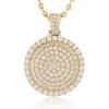 14k Yellow Gold 3.30ct Diamond Circle Pendant