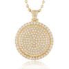 14k Yellow Gold 4.69ct Diamond Circle Pendant