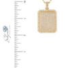 14k Yellow Gold 6.45ct Diamond Dog Tag Pendant