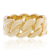 10k Yellow Gold Cuban Link Ring Front
