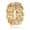 10k Yellow Gold Cuban Link Custom Ring