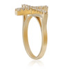 14K Yellow Gold .53ct Diamond Cross Ring
