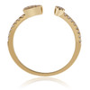 18K Yellow Gold .21ct Diamond Arrow Ring