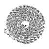 10k White Gold 3mm Hollow Rope Chain 26in Spiral View