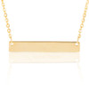 14K Yellow Gold Custom Engravable Bar Necklace