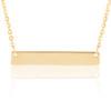 14K Yellow Gold Custom Engravable Bar Necklace