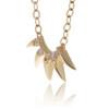 14K Yellow Gold Diamond Design Necklace