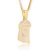 14k Yellow Gold 11.52ct Diamond Jesus Head Pendant Fancy Crown