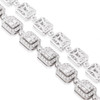 14k White Gold 14.02ct Diamond Baguette Necklace