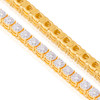 14k Yellow Gold 3.32ct Diamond Tennis Bracelet