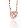 18k Rose Gold Diamond Heart Pendant .35ct