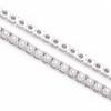 14k White Gold Diamond Tennis Bracelet 3.38ct