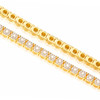 14k Yellow Gold Diamond Tennis Bracelet 3.32ct