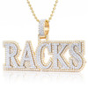 "Custom Two-Tone Diamond ""Racks"" Pendant"
