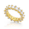 14kt Yellow Gold Round Eternity Band 5ctw