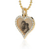 Custom Gold & Diamond Heart Picture Pendant