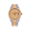 Rolex DateJust 36mm 18k Yellow Gold and Stainless Steel Diamond bezel