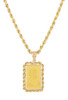 14k Yellow Gold 2.5g Pamp Suisse Pendant with Rope Border