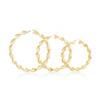 10k Yellow Gold Twist Hoops