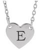 14kt Engravable Heart Necklace
