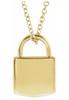 14k Engravable Lock Necklace