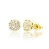 14k Gold VS Diamond Cluster Stud Earrings 1.00ctw