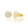 14k Gold Diamond Cluster Stud Earrings 1.00ctw