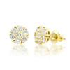 14k Gold VS Diamond Cluster Stud Earrings 1.37ctw