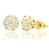 14k Gold Diamond Cluster Stud Earrings 2.31ctw