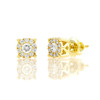 14k Gold Diamond Cluster Stud Earrings .40ctw