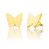 14kt Gold Butterfly Studs
