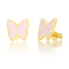14kt Gold and Enamel Butterfly Studs