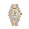 Rolex DateJust 36mm Gold and Steel with Custom Roman Dial