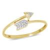 14k Yellow Gold .10CT Diamond Arrow Ring