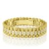 14k Yellow Gold 7.25ct Diamond Watch Band Bracelet