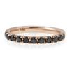 14k Rose Gold 1ct Black Diamond Ring