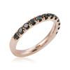 14k Rose Gold 1ct Black Diamond Ring Close Up
