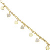 14k Yellow Gold with White Sapphire Love Charm Bracelet