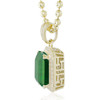 10k Yellow Gold Sapphire Small Emerald Pendant