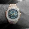 Patek Philippe 5980 Nautilus 18k Rose Gold 37ct Diamond Watch