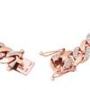 10K Rose Gold 5.5ct Diamond Cuban Link Bracelet