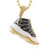 14k Yellow Gold 1ct Sneaker Pendant