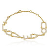 18k Yellow Gold 1.57ct I Love You Bracelet