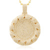 14k Yellow Gold 6.98ct Circle Pendant