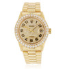 Rolex DateJust 18k Yellow Gold 4ct Diamond Automatic Women's Watch