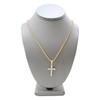 14k Yellow Gold 1.5ct Medium Cross Pendant
